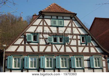 Old German Timber House In Landstuhl, Germany