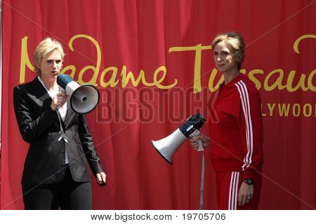 LOS ANGELES - AUGUST 4:  Jane Lynch  at the Ceremony for Jane Lynch after being  Immortalized in wax at Madame Tussauds - Hollywood at Madame Tussauds - Hollywood on August 4, 2010 in Los Angeles, CA