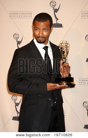 LOS ANGELES - AUG 21:  Isaiah Mustafa  in the Press Room of the 2010 Creative Primetime Emmy Awards at Nokia Theater at LA Live on August 21, 2010 in Los Angeles, CA