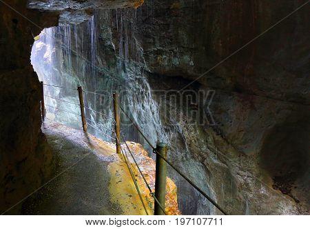 Footpath trough Partnach Gorge or