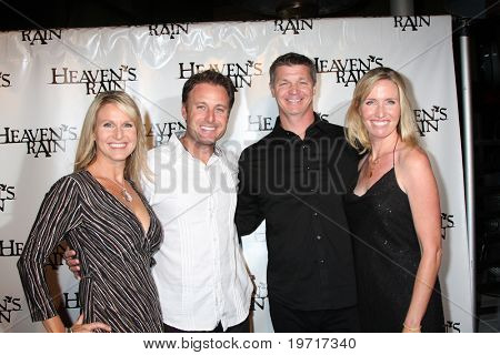 LOS ANGELES - SEP 9:  Chris Harrison & Wife, Brooks Douglass & Wife arrives at the