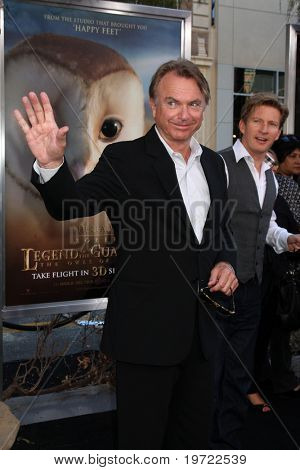LOS ANGELES - SEP 19:  Sam Neill arrives at the Legend of the Guardians: The Owls of Ga'Hoole Premiere at Grauman's Chinese Theater on September 19, 2010 in Los Angeles, CA