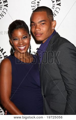 LOS ANGELES - SEP 23:  Reagan Gomez-Preston & DeWayne Turrentine arrives at