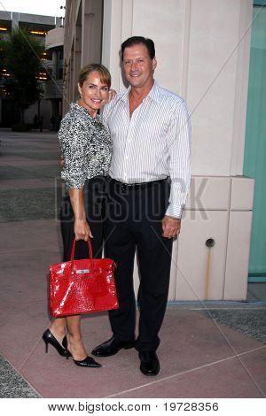 LOS ANGELES - SEP 28:  Crystal Chappell, Michael Sabatino arrives at
