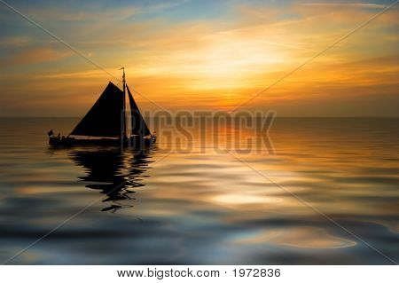 Sailboat On A Beautiful Night