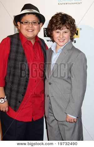 LOS ANGELES - OCT 8:  Rico Rodriguez, Nolan Gould arrives at the Gay, Lesbian and Straight Education Network Respect Awards at Beverly Hills Hotel Theatre on October 8, 2010 in Beverly Hills, CA
