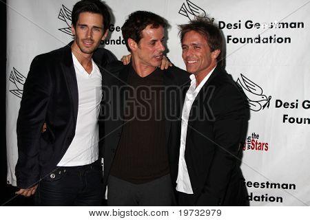 LOS ANGELES - OCT 9:  Brandon Beemer, Christian LeBlanc,  & Scott Reeves arrives at the