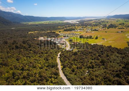 Aerial Photo Fox Glacier Township