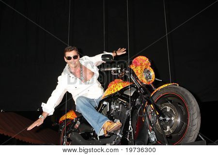 LOS ANGELES - OCT 21:  Artist Jack Armstrong & the  $1 Million Motorcycle at the Harley Davidson Showcase:  Unveiling of Cosmic Harley  at Bartels' Harley-Davidson on October 21, 2010 in Marina Del Re