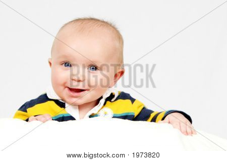 Little Boy On White