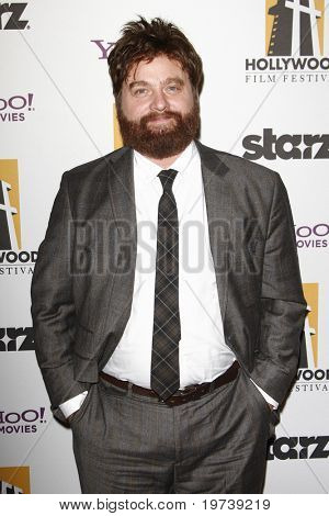 LOS ANGELES - OCT 25:  Zach Galifianakis arrives at the 14th Annual Hollywood Awards Gala at Beverly Hilton Hotel on October 25, 2010 in Beverly Hills, CA