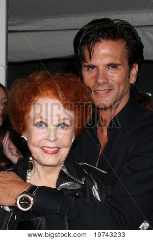LOS ANGELES - NOV 3:  Arlene Dahl, Lorenzo Lamas arrive at the Hollywood Walk of Fame 50th Anniversary Celebration at Hollywood & Highland on November 3, 2010 in Los Angeles, CA