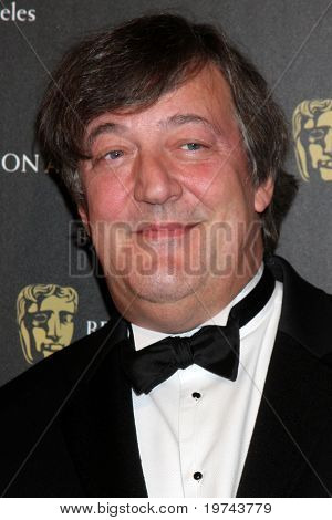 LOS ANGELES - NOV 4:  Stephen Fry arrives at the 19th Annual BAFTA Los Angeles Britannia Awards at Hyatt Regency Century Plaza on November 4, 2010 in Century City, CA