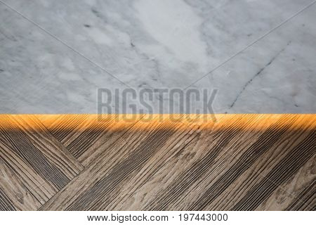 White marble and wooden backgrounds stock photo