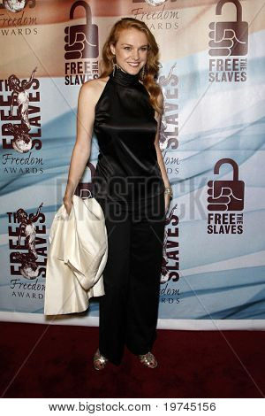 LOS ANGELES - NOV 7:  Erin Cottrell arrives at the 2010 Freedom Awards  at Redondo Beach Performing Arts Center on November 7, 2010 in Redondo Beach, CA