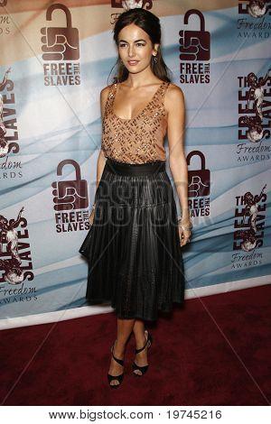 LOS ANGELES - NOV 7:  Camilla Belle arrives at the 2010 Freedom Awards  at Redondo Beach Performing Arts Center on November 7, 2010 in Redondo Beach, CA
