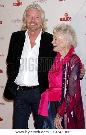 LOS ANGELES - NOV 11:  Richard Branson, Eve Branson arrives at the Rock the Kabash Gala 2010 at Dorothy Chandler Pavilion  on November 11, 2010 in Los Angeles, CA