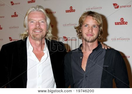 LOS ANGELES - NOV 10:  Richard Branson, Sam Branson arrives at the Rock the Kabash Gala 2010 at Dorothy Chandler Pavilion  on November 10, 2010 in Los Angeles, CA