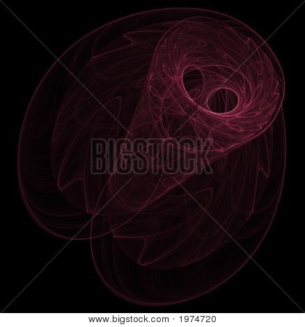 Optical Art Fractal Attractor Night Moth One Red