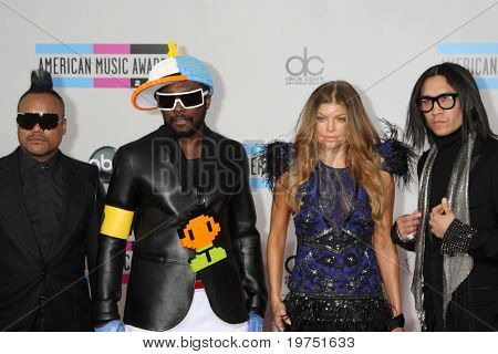 LOS ANGELES - NOV 21:  Black Eyed Peas arrives at the 2010 American Music Awards at Nokia Theater on November 21, 2010 in Los Angeles, CA