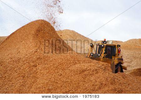 Bulldozer Woodchips