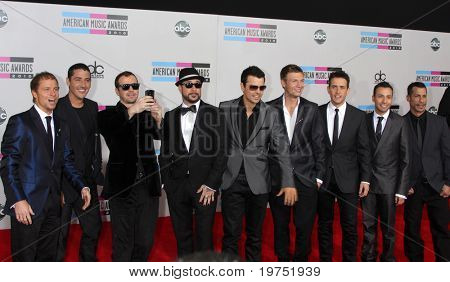 LOS ANGELES - NOV 21:  New Kids on The Block, Backstreet Boys arrives at the 2010 American Music Awards at Nokia Theater on November 21, 2010 in Los Angeles, CA