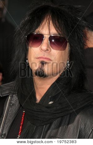 "LOS ANGELES - NOV 22:  Nikki Sixx arrives at the ""Faster"" LA Premiere at Grauman's Chinese Theater on November 22, 2010 in Los Angeles, CA"