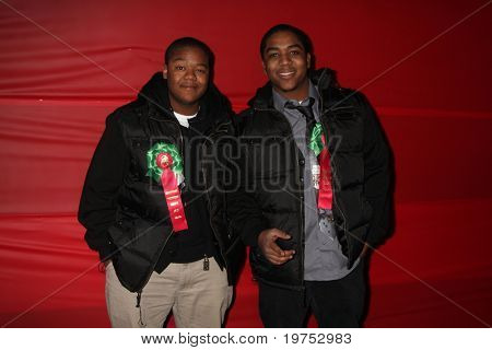 LOS ANGELES - NOV 28:  Kyle Massey, Chris Massey arrive at the 2010 Hollywood Christmas Parade at Hollywood Boulevard on November 28, 2010 in Los Angeles, CA