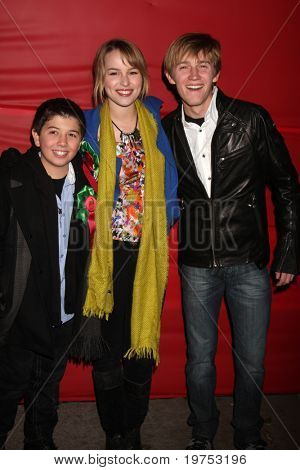 LOS ANGELES - NOV 28:  Bradley Steven Perry, Bridgit Mender, Jason Dolley arrive at the 2010 Hollywood Christmas Parade at Hollywood Boulevard on November 28, 2010 in Los Angeles, CA
