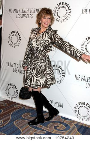 LOS ANGELES - NOV 30:  Jane Fonda arrives at the Paley Center for Media Annual Los Angeles Gala Honoring Mary Hart & Al Michaels at Beverly Wilshire Hotel on November 30, 2010 in Beverly Hills, CA