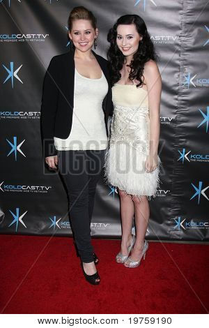 "LOS ANGELES - DEC 14:  Jane Carrey, Jillian Clare attend the ""Miss Behave"" Season Two Premiere Party at Flappers Comedy Club on December 14, 2010 in Burbank, CA."