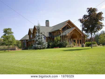 Large Upscale Log Home