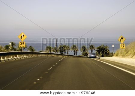 Curved Road Background
