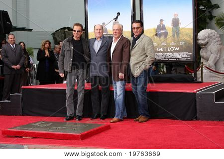 LOS ANGELES - JAN 5:  Billy Bob Thornton, Robert Duvall, James Caan, Andy Garcia at the Robert Duvall Hand and Footprint Ceremony at Grauman's Chinese Theater on January 5, 2011 in Los Angeles, CA