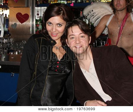 LOS ANGELES - DEC 17:  Jo Bozarth,  Bradford Anderson on set during the making of the movie
