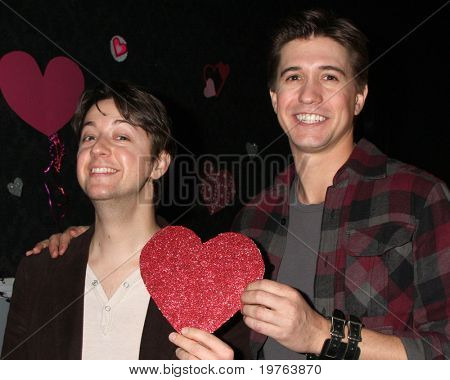 LOS ANGELES - DEC 17:  Josh Heine (Cupid), Bradford Anderson (Achilles) on set during the making of the movie