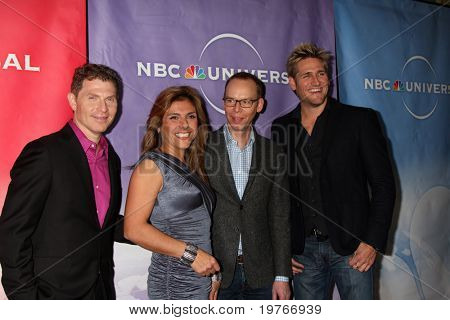 PASADENA, CA - JAN 13:  Bobby Flay, Lorena Garcia, Steve Ellis, Curtis Stone arrives at the NBC TCA Winter 2011 Party at Langham Huntington Hotel on January 13, 2010 in Pasadena, CA