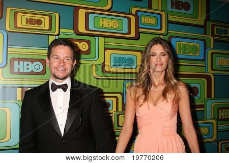 BEVERLY HILLS - JAN 16: Mark Wahlberg, Rhea Durham arrives at the HBO Golden Globe Party 2011 at Circa 55 at the Beverly Hilton Hotel on January 16, 2011 in Beverly Hills, CA