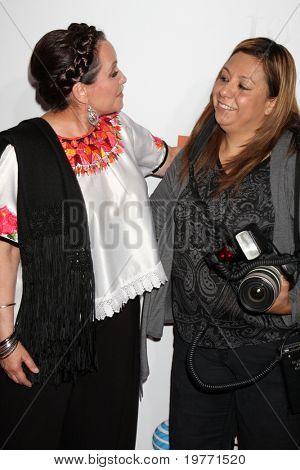 LOS ANGELES - JAN 18:  Actress Adriana Barraza , and photographer Adriana M. Barraza  arrives at