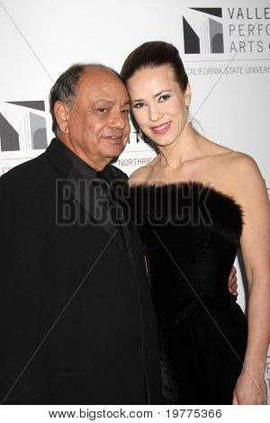LOS ANGELES - JAN 29:  Cheech Marin and wife Natasha Rubin arrive at the Valley Performing Arts Center Opening Gala at California State University, Northridge on January 29, 2011 in Northridge, CA