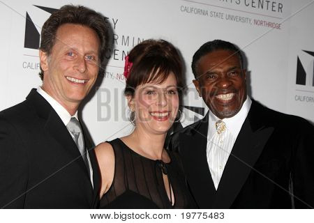 LOS ANGELES - JAN 29:  Steven Weber, Jane Kaczmarek, Keith David arrives at the Valley Performing Arts Center Opening Gala at CSUN on January 29, 2011 in Northridge, CA