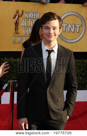 LOS ANGELES - JAN 30:  Chris Colfer arrives at the 2011 Screen Actors Guild Awards  at Shrine Auditorium on January 30, 2011 in Los Angeles, CA