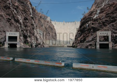 Hoover Dam From The River Below