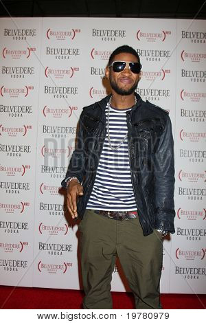 LOS ANGELES - FEB 10:  Usher Raymond arrives at the Belvedere RED Special Edition Bottle Launch at Avalon on February 10, 2011 in Los Angeles, CA