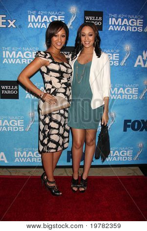 LOS ANGELES - FEB 12:  Tamara & Tia Mowry arrives at the 2011 NAACP Image Awards Nominee Reception at Beverly Hills Hotel on February 12, 2011 in Beverly Hills, CA