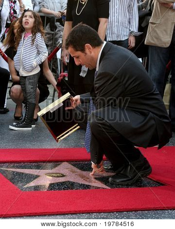 LOS ANGELES - FEB 1:  Adam Sandler at the Adam Sandler Hollywood Walk of Fame Star Ceremony at W Hotel on February 1, 2011 in Hollywood, CA