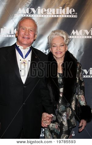 LOS ANGELES - FEB 18:  Buzz & Lois Aldrin arrives at the 19th Annual Movieguide Awards Gala at Universal Hilton Hotel on February 18, 2011 in Los Angeles, CA