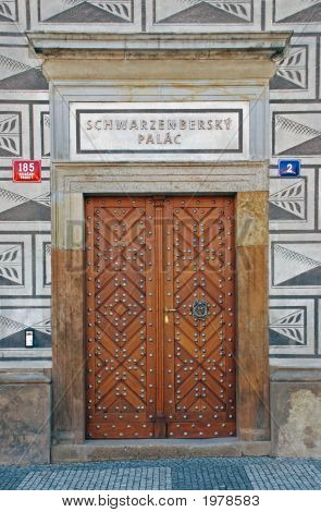 Door On Schwrazenbersky Palace
