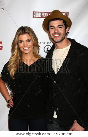 LOS ANGELES - FEB 20:  Amber Lancaster; Jayson Blair arrives at the 24 Hour Hollywood Rush at Ebell Theater on February 20, 2011 in Los Angeles, CA