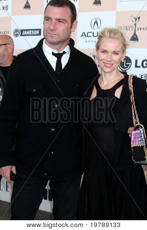 SANTA MONICA, CA - FEB 26:  Liev Schreiber and Naomi Watts arrive at the 2011 Film Independent Spirit Awards at the Beach on February 26, 2011 in Santa Monica, CA